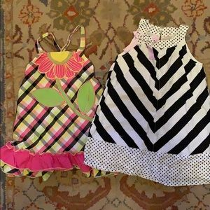 Two 3T sundresses by OshKosh and Iris & Ivy